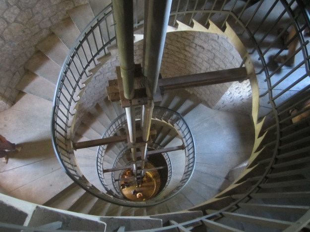 A snippet of the 320 steps that spiral up the tower's interior