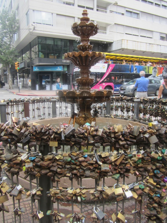 """The legend of this young fountain tells us that if a lock with the initials of two people in love is placed in it, they will return together to the fountain and their love will be forever locked."""