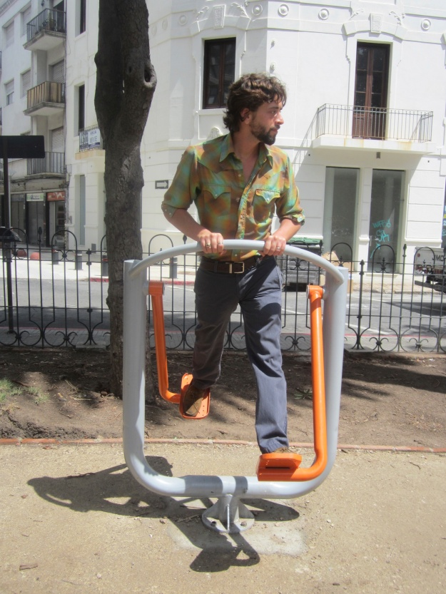 The exercise equipment placed within public parks: