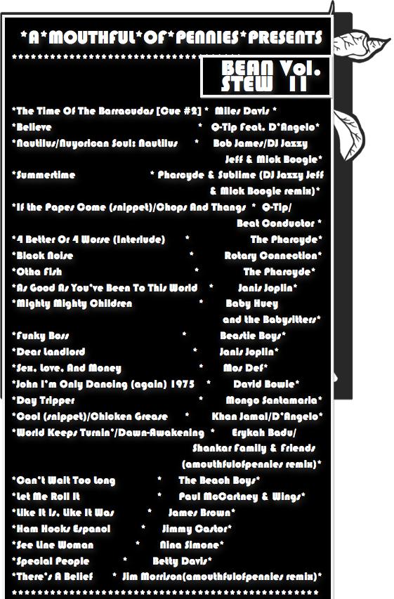 Bean Stew_Vol II tracklist