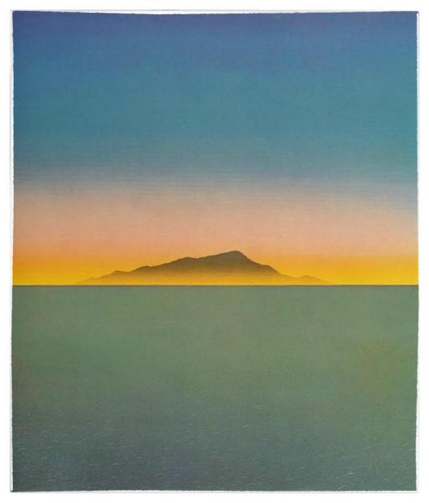 Evening Star, acrylic on canvas by Peter Schmidt , 1972.