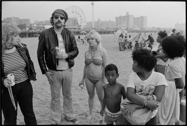 Lester Bangs Coney Island. Roughly circa 1977 photo by Chris Stein: Blondie guitarist and co-host of public-access show, TV Party.