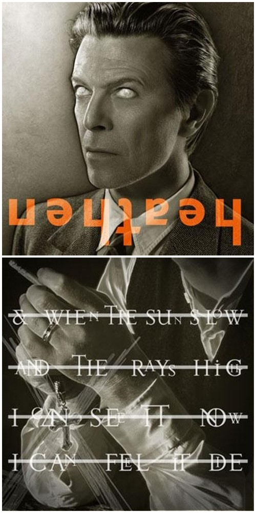 [Heathen album artwork designed by Bowie's long-time graphic design collaborator Jonathan Barnbrook]
