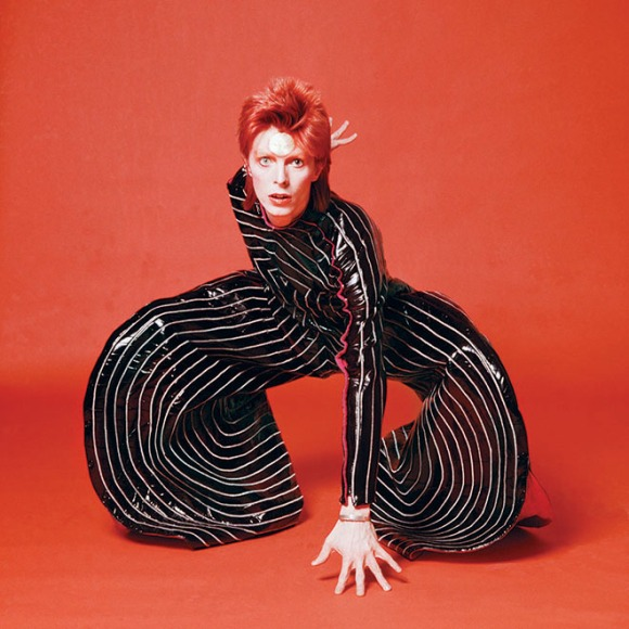 "David Bowie in designer Kansai Yamamoto's ""Rites of Spring"" costume (photo by Terry O'Neill, Ziggy Stardust UK tour, 1973)"