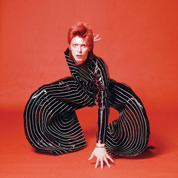 "David Bowie in designer Kansai Yamamoto's ""Rites of Spring"" costume (photo by Terry O'Neill, Ziggy Stardust UK tour, 1973)"