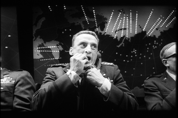 George C. Scott's unforgettably manic performance as the boorish Gen. 'Buck' Turgidson Dr. Strangelove or: How I Learned to Stop Worrying and Love the Bomb