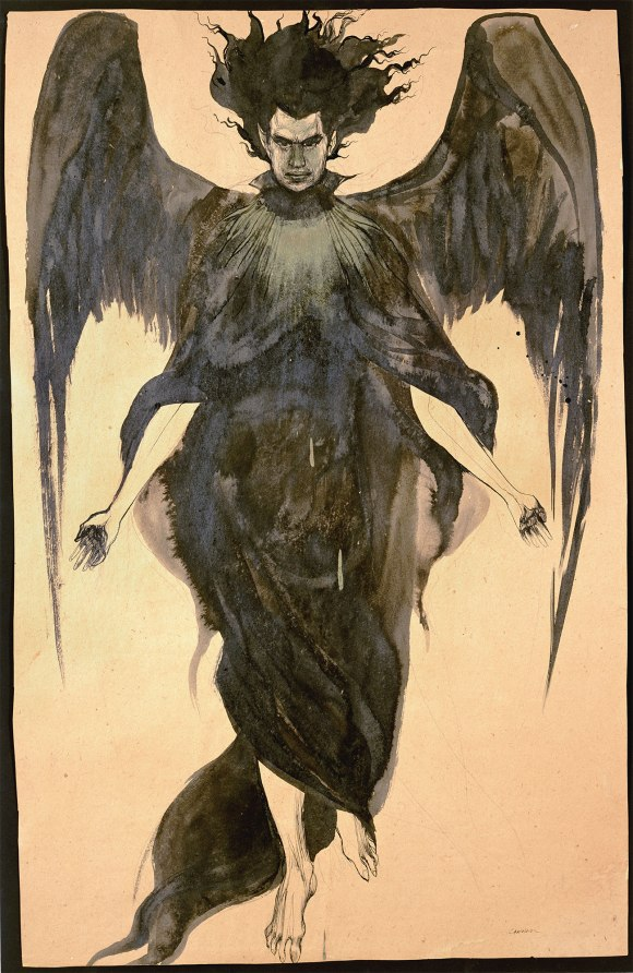 Dark Angel, a portrait of Jack Parsons by his wife Marjorie Cameron, made sometime during the course of their marriage (1946–1952)]