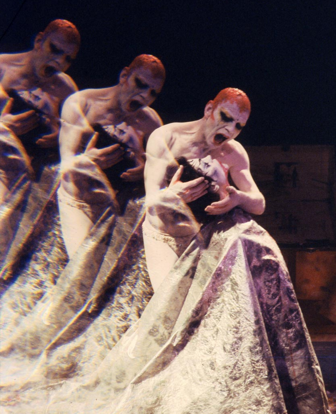 Lindsay Kemp in his own stage production of Oscar Wilde's 1891 play, Salomé [photo by Graziano Villa]