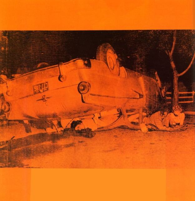 [Andy Warhol, Orange Car Crash, 1963]