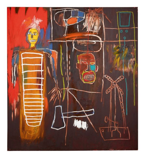 [Jean-Michel Basquiat, Air Power, 1984 - owned by David Bowie]