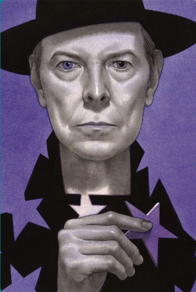 [DAVID BOWIE, THE STARS (ARE OUT TONIGHT)Edward Kinsella illustration]