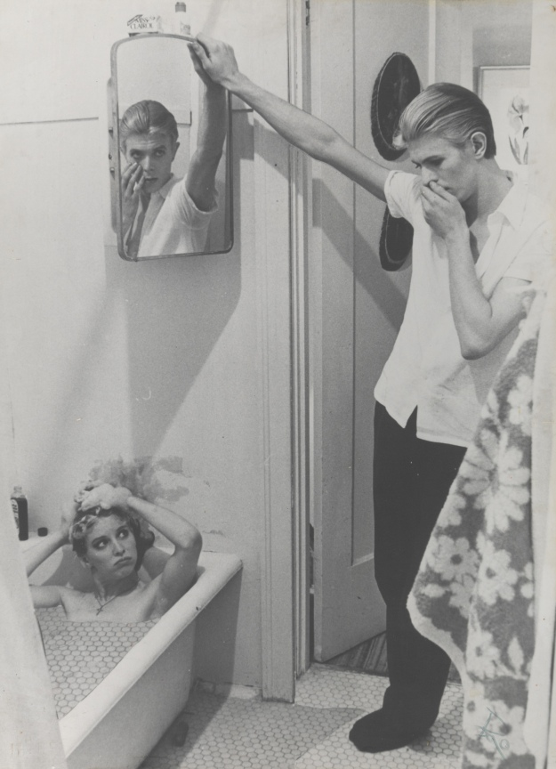 [Photo-collage by David Bowie of manipulated film stills from The Man Who Fell to Earth 1975-6]