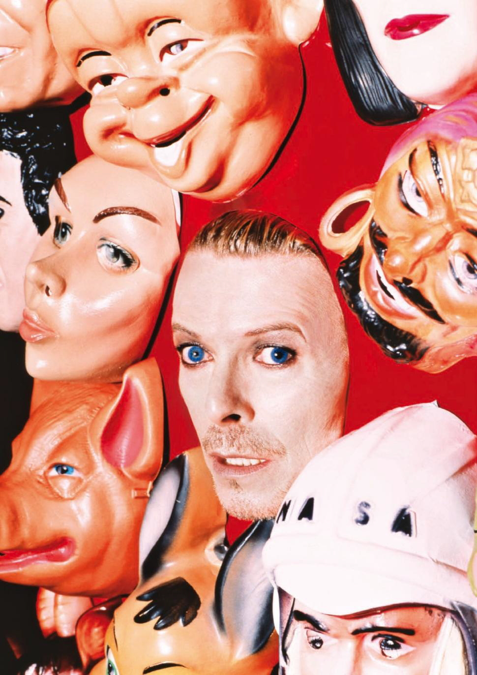 [David Bowie : Face Masks, by David LaChapelle, 1995]