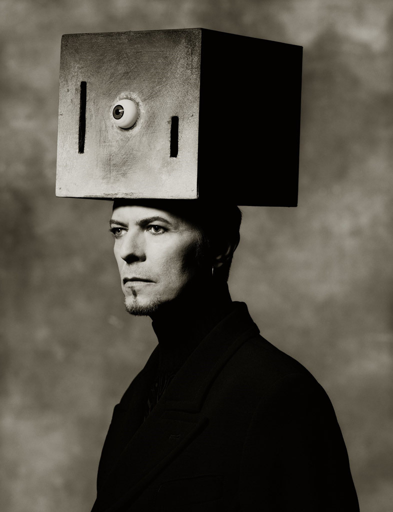 [Box On Head, photo by Albert Watson, 1996]