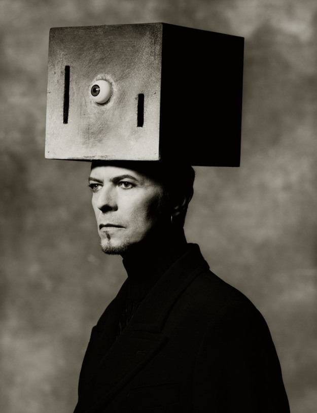 [Box On Head, photo by Albert Watson, 1996]