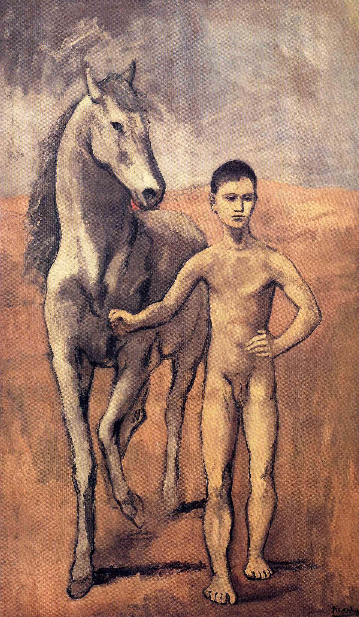 [ Jeune homme et cheval (Boy Leading A Horse) by Pablo Picasso, 1906.]