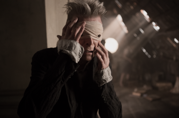 [still from the Blackstar video directed by Johan Renck]
