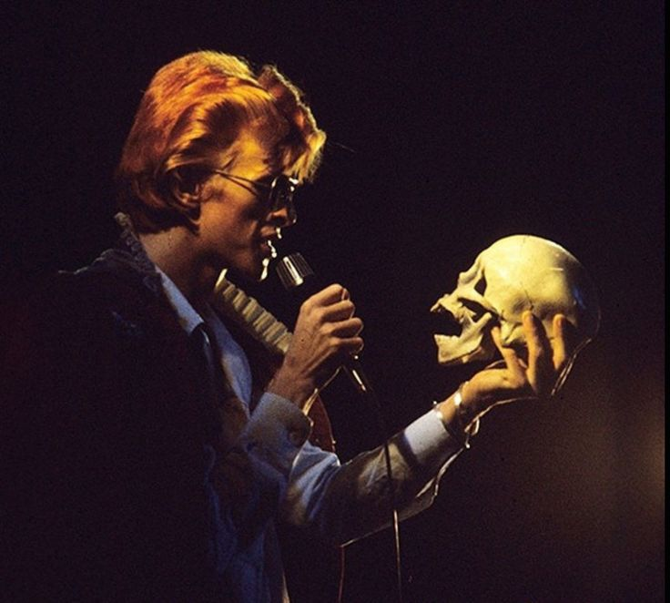 "[Bowie performing ""Cracked Actor"" during the 1974 Diamond Dogs tour]"