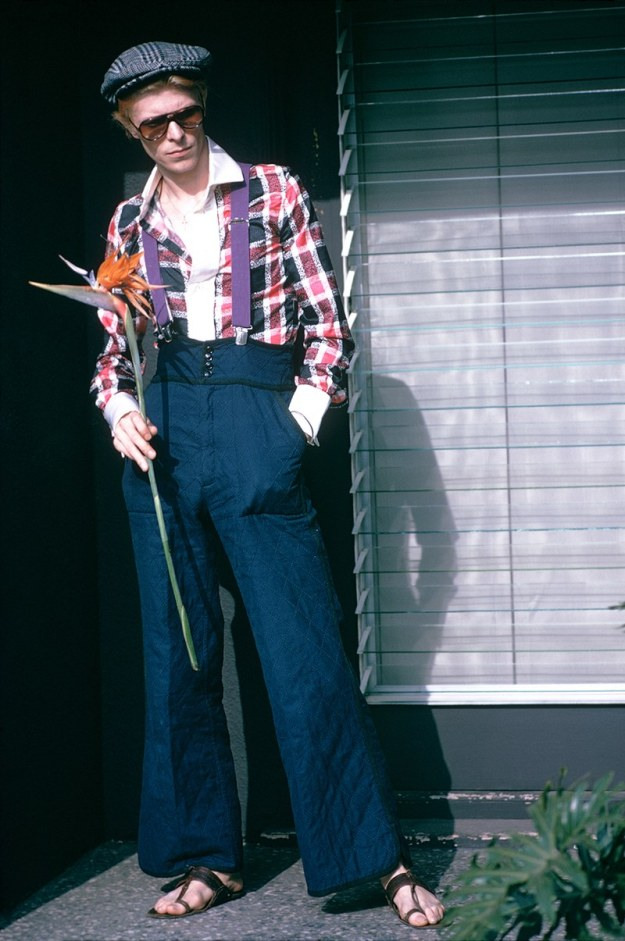 [David Bowie photographed by Steve Schapiro in Los Angeles in 1974.]