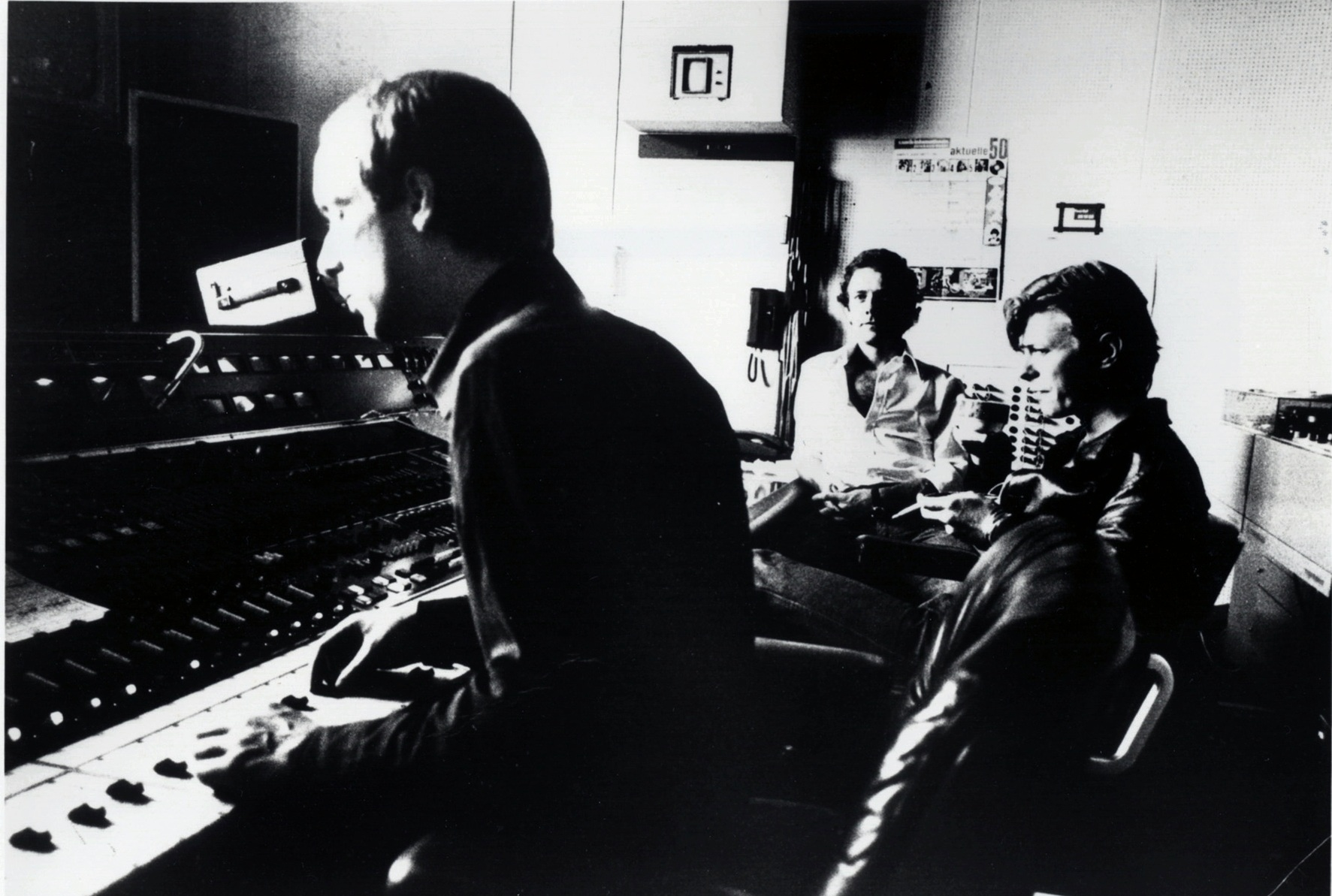 "[""Eno, Fripp and Bowie,"" Hansa Studios, ca. July 1977]"