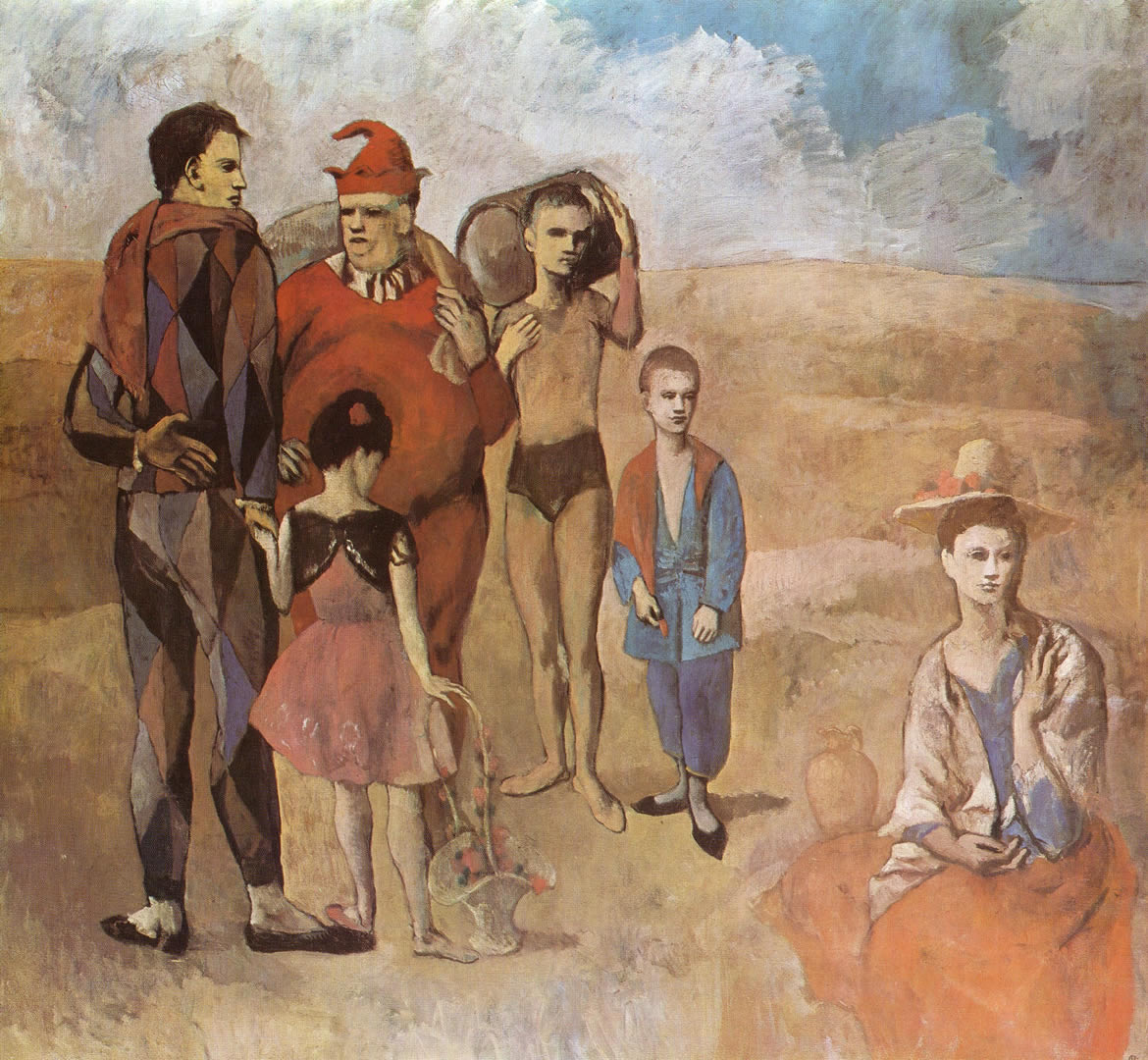 [Family Of Saltimbanques, painted in 1905 during the 24 year-old Picasso's Rose Period.]