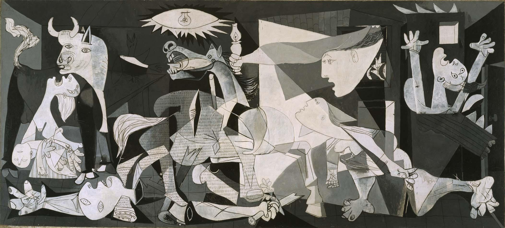 [Guernica by Pablo Picasso completed in June 1937]