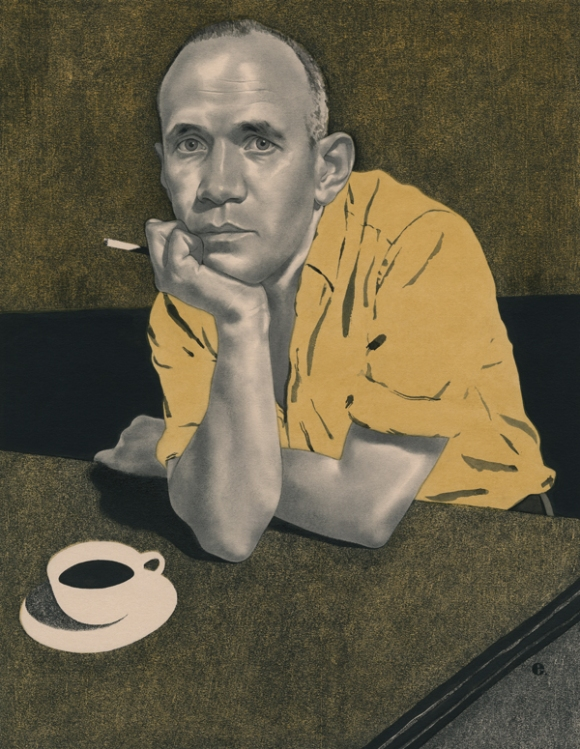 [Edward Kinsella Illustration of French writer and provocateur Jean Genet for The New Yorker, 2014]