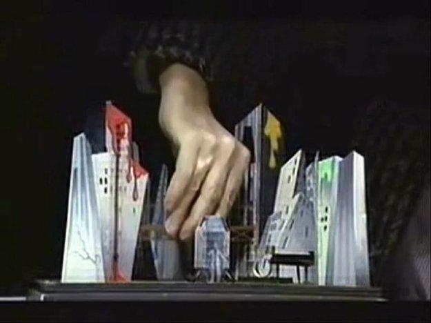 [Diamond Dogs Show stage set model demonstration]