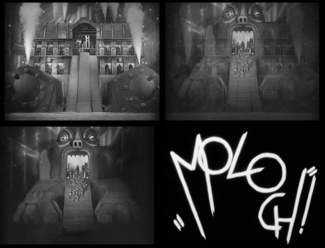 [stills from Metropolis, a 1927 German expressionist epic science-fiction drama film directed by Fritz Lang.]