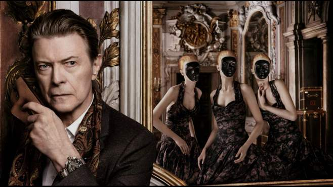 "[There were two videos released for ""I'd Rather Be High"" in its ""Venetian Mix"" form (featuring the music director of Bowie's stage musical ""Lazarus,"" Henry Hey on harpsichord). The first was a Romain Gavras directed clip part of an ad campaign for Louis Vuitton which featured Bowie and model Arizona Muse, at a surreal costume ball held during the French Enlightenment.]"