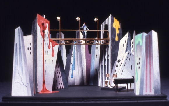 Bowie's set design model for the 1974 Diamond Dogs tour]