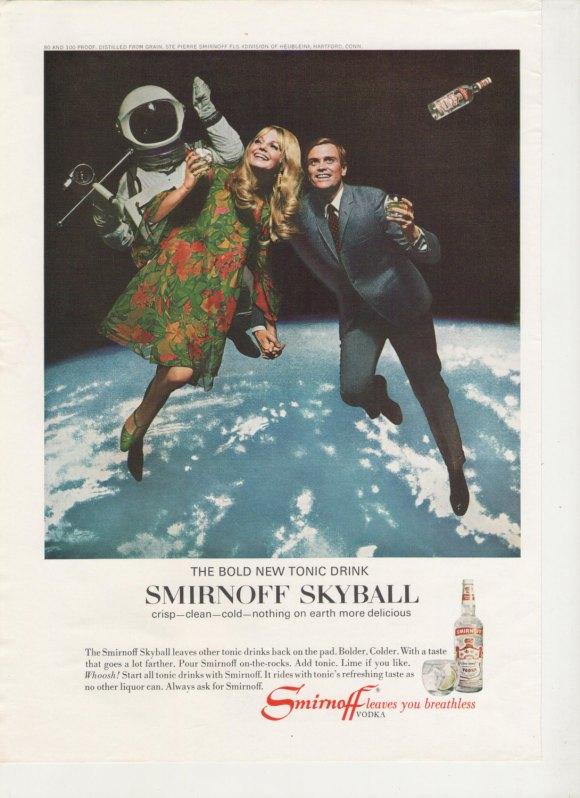 [1967 Smirnoff Skyball Vodka print ad]