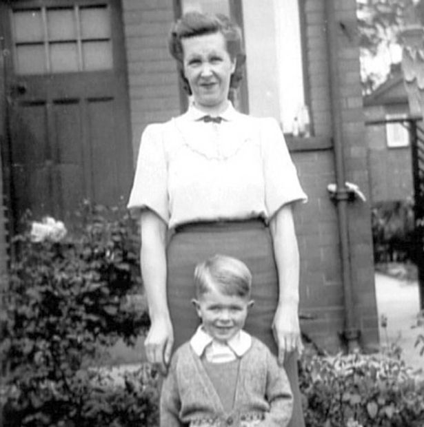 [Bowie as a young boy with his mother Peggy]