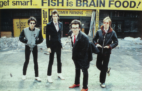 [Elvis Costello & The Attractions, 1979 U.S.A.; photo by Keith Morris ]