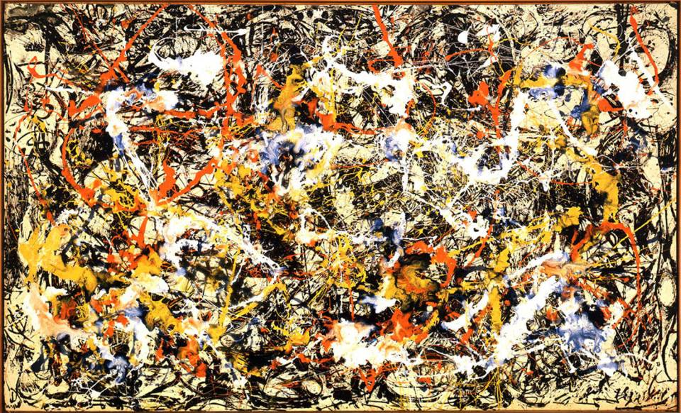Jackson Pollock Convergence Number Mouthful