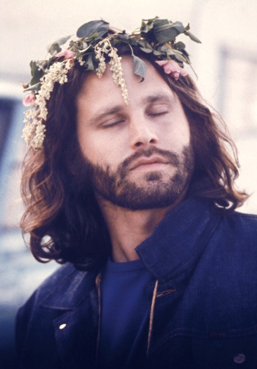 [Jim Morrison as the Faune. photographed by Frank Lisciandro, 1970.]