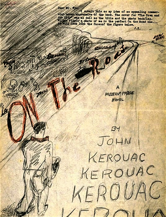 [1952 proposed Cover Design by Jack Kerouac for On the Road]