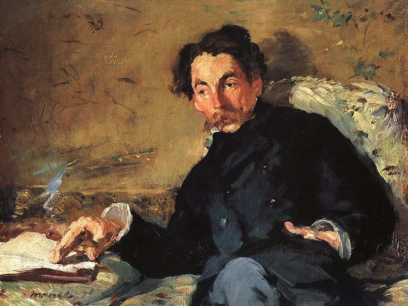 [Stéphane Mallarmé by Edouard Manet (1832-1883). On display at the Musée d'Orsay in Paris, France, this portrait was painted in 1876, the year of the publication of Mallarmé's Après-midi d'un faune, a long poem illustrated by engravings by Manet.]