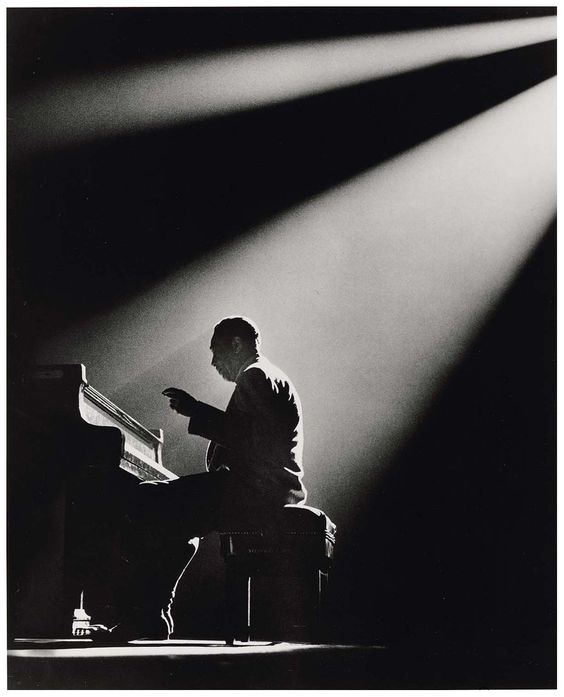 [Sunset And The Mocking Bird (Queen's Suite part 1) - Duke Ellington & His Orchestra (photo Duke Ellington, Paris, 1958 by Herman Leonard)]